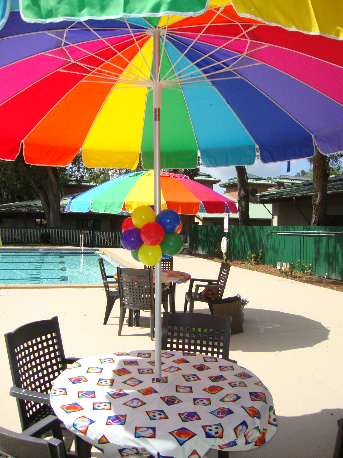 Party people event decorating company pool party soccer for Pool decorations