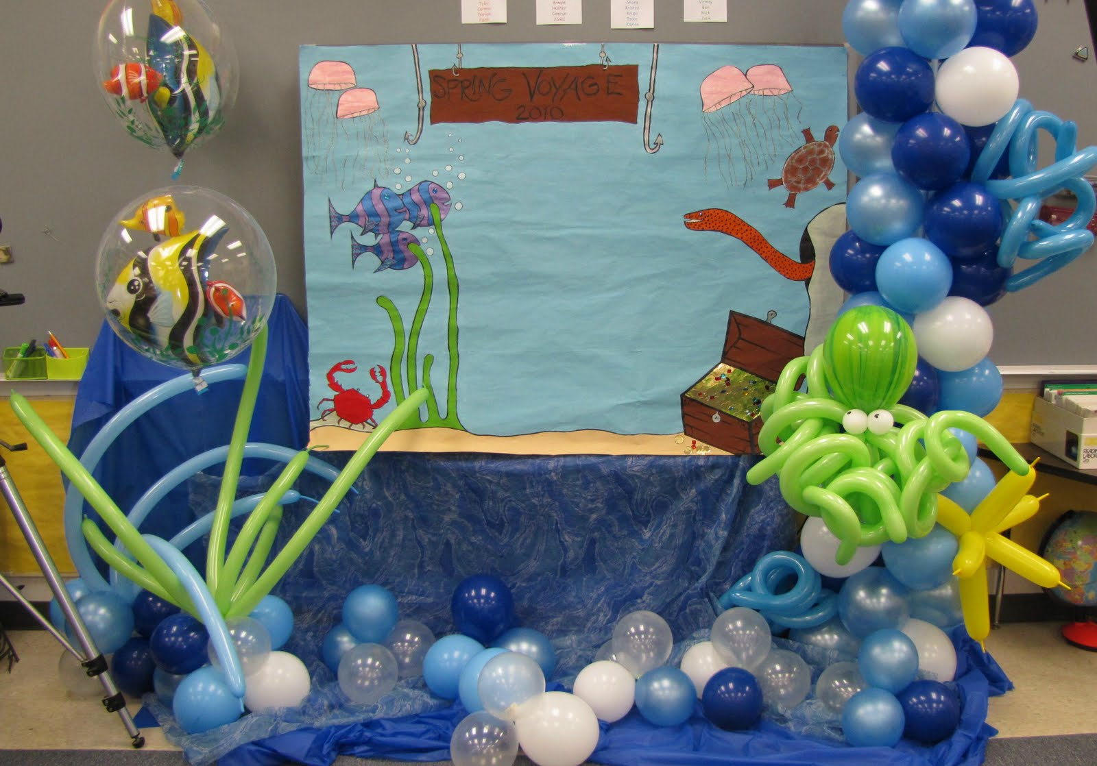 Party people event decorating company under the sea for Balloon decoration images