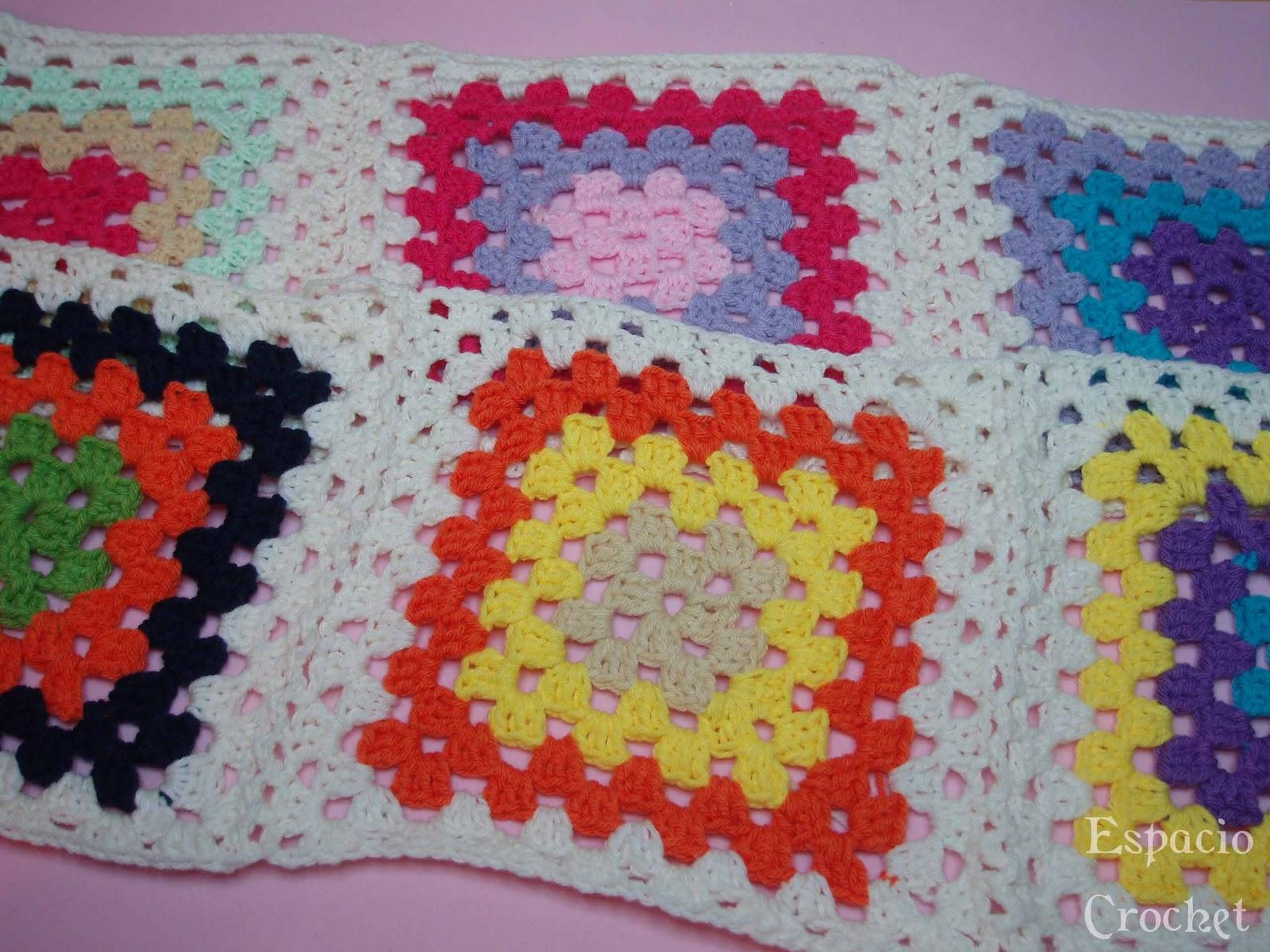 Cuadros de crochet / Crochet squares | Espacio Crochet