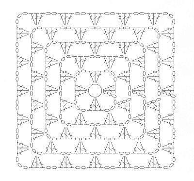 Fantástico Cuadrados De Ganchillo Manta Patrón Ornamento - Ideas de ...