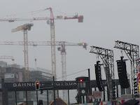 Cranes over Berlin; photo by Val Phoenix