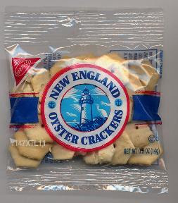 Flying oyster crackers.