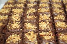 kek brownies walnut