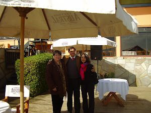 Con Arturo Barrios y Alejandra
