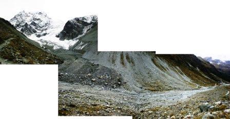 Fonte du bas glacier d'Arolle