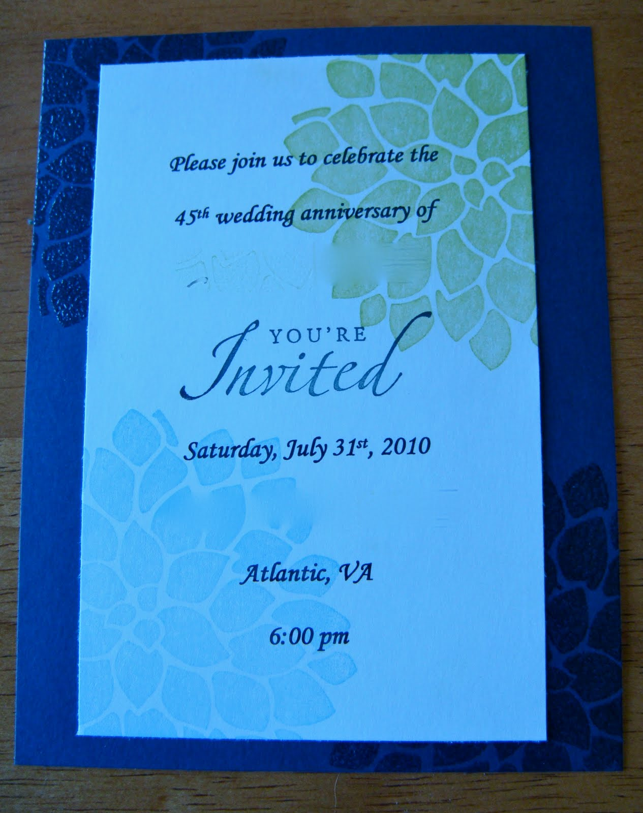 Little Leaf Lane: Anniversary Party Invitation and Shop News