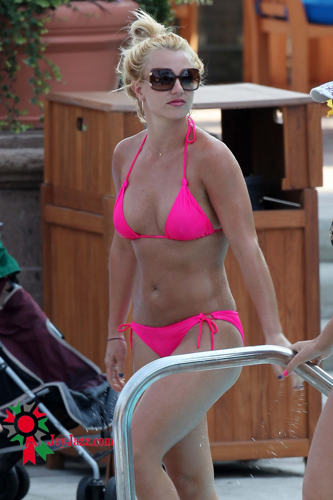 Hot and spicy  Britney Spears in Pink Bikini in Marina del Rey