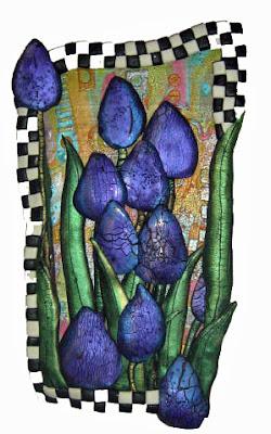 Friezes- Purple tulips