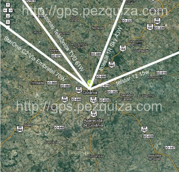 Compare a Posição dos Satélites Amazonas, C2, Intelsat 1R e Telstar ...