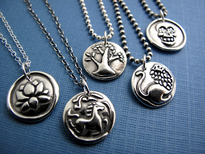 silver lotus horse charm jewelry necklace