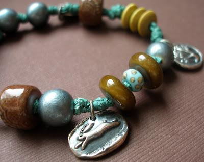 silver bunny rabbit charm bracelet jewelry
