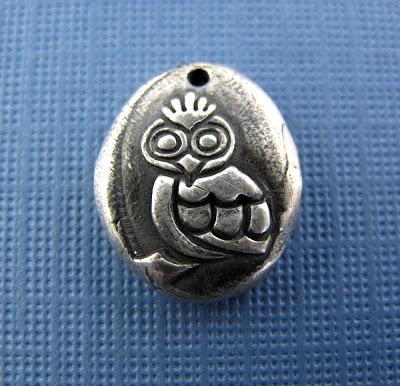 silver owl bird charm hint jewelry