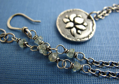 silver lotus charm necklace yoga inspired jewelry