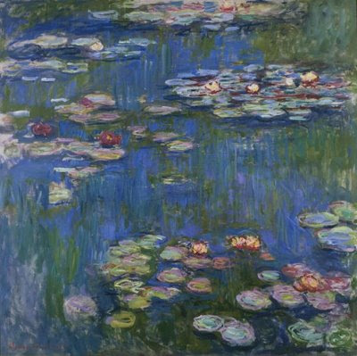 monet painting water lilies