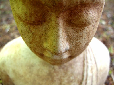 garden buddha sculpture face