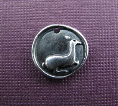 silver deer fawn doe charm hint jewelry