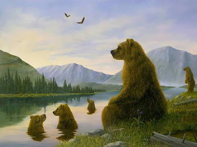 bear painting robert bissell
