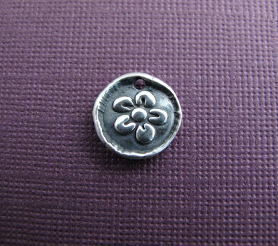 silver plum blossom flower charm hint jewelry