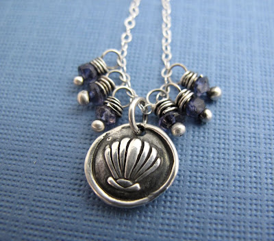 silver shell charm necklace hint jewelry