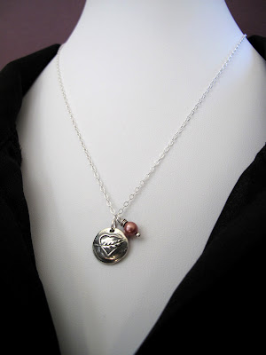 silver pink breast cancer survivor necklace