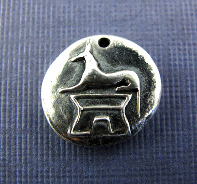 silver anubis charm dog hint jewelry