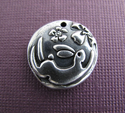silver rabbit hare moon charm hint jewelry