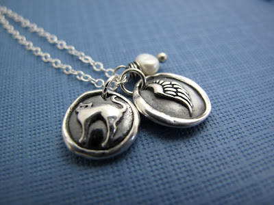 angel cat silver charm necklace hint jewelry