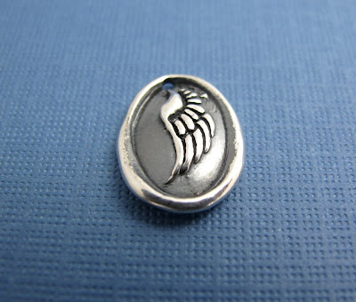 silver angel wing charm jewelry