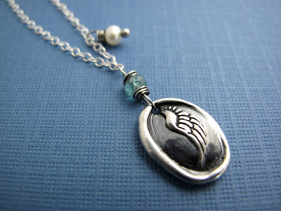 silver angel wing pendant charm necklace jewelry
