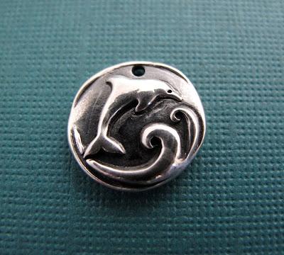 silver miami dolphin charm pendant jewelry bracelet