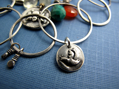 silver bluebird happiness charm jewelry