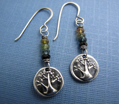silver charm tree of life earrings jewelry