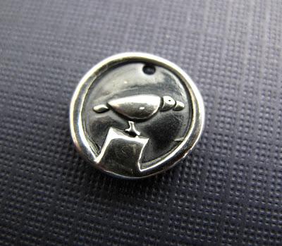silver raven crow bird charm bracelet jewelry