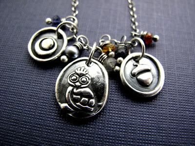 silver owl charm jewelry necklace bracelet