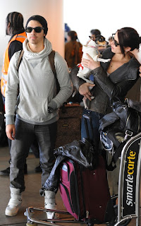 Ashley Greene and Joe Jonas at LAX Airport