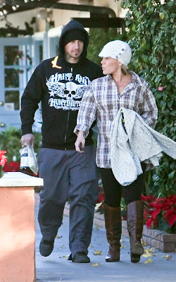 Pink and Carey Hart at the Malibu Country Mart