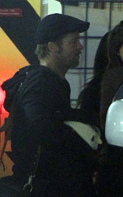Brad Pitt and Angelina Jolie leaving Bristol Hotel Pics