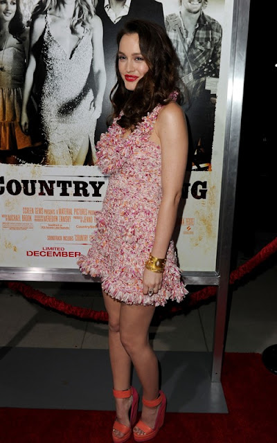 Leighton Meester Summer Girl Video Premiere Pics