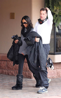 Zoe Saldana out for a day of skiing in Aspen