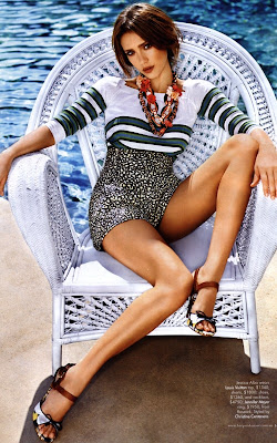 Jessica Alba Harper's Bazaar Magazine January 2011
