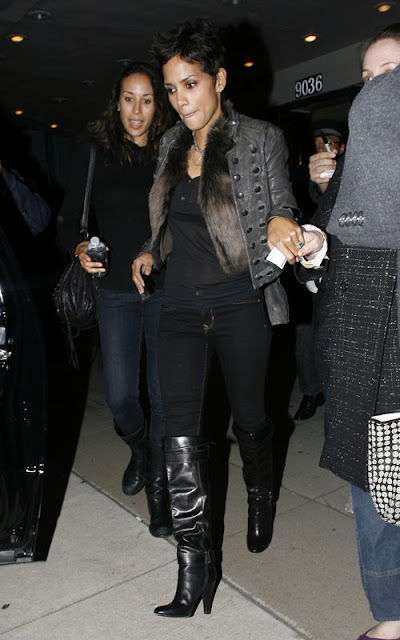 Halle Berry leaving Laemmle Music Hall