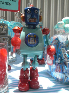 robot kids party idea children's parties  baby showers bridal showers  birthday girl blog   http://www.frostedevents.com