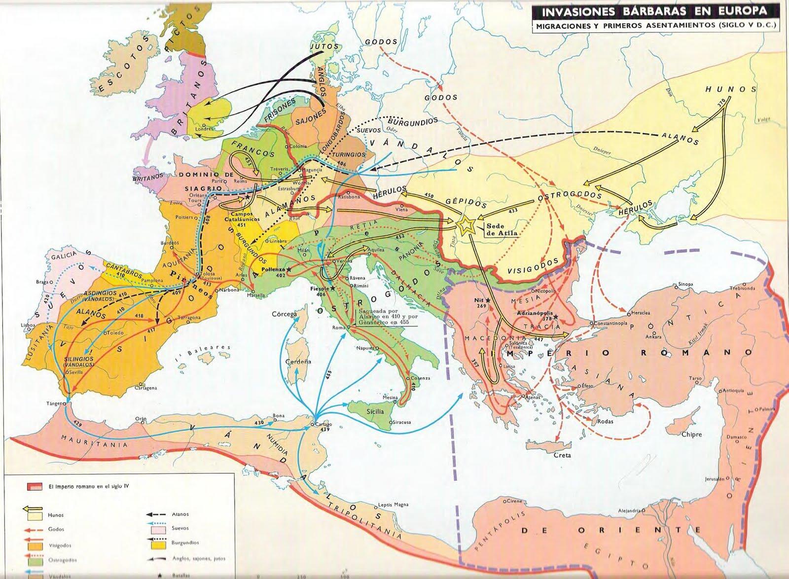 Las Invasiones Bárbaras de Europa Siglo V