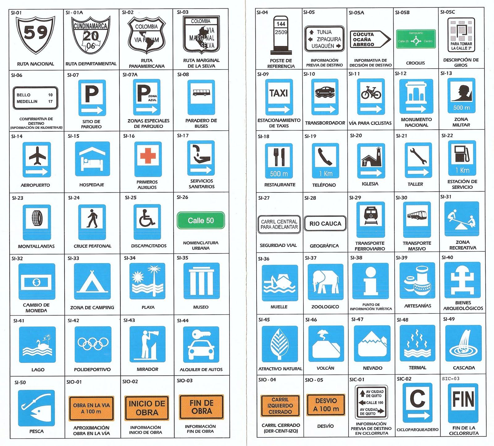 Imágenes de señales de transito informativas - Imagui