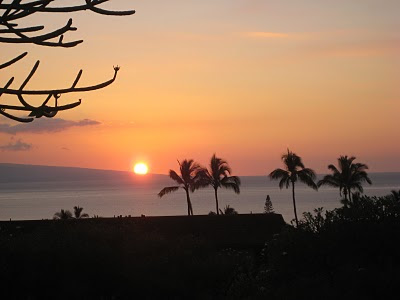 Sunset from a Maui Vacation Condo