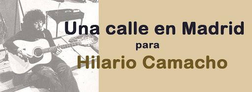 Una calle en Madrid para Hilario Camacho