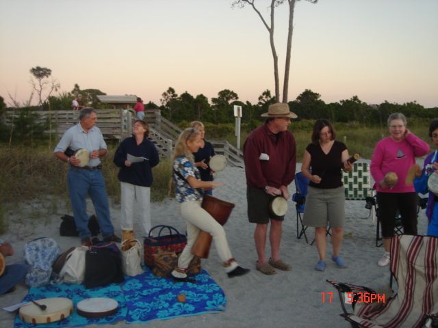 Barbara Gail from Rhythm Inlet adds the beat for our ceremony