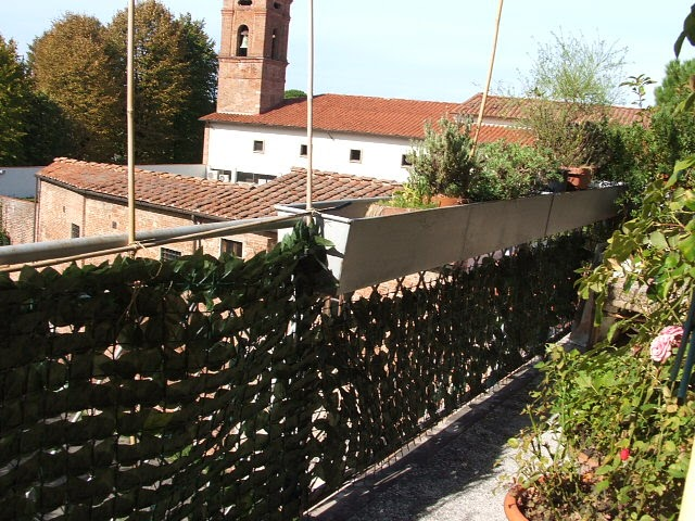 Casa della mamma un terrazzo 39 di ringhiera 39 for Idee per coprire ringhiera balcone