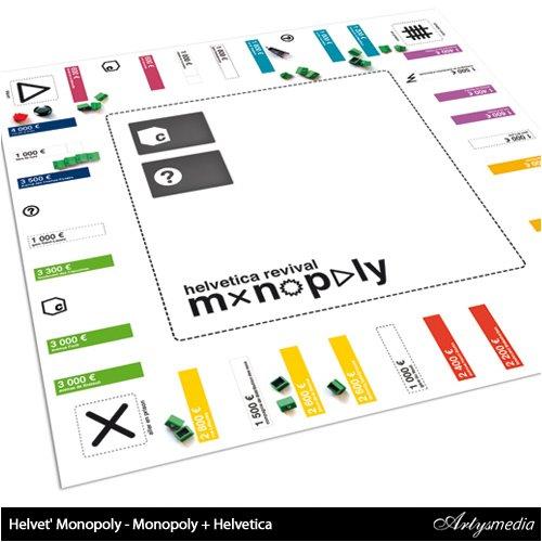 Helvet' Monopoly - Monopoly + Helvetica
