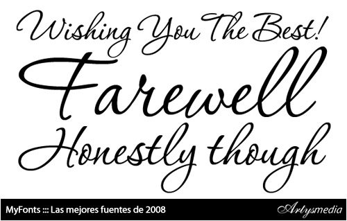 MyFonts: Top 10 fonts of 2008